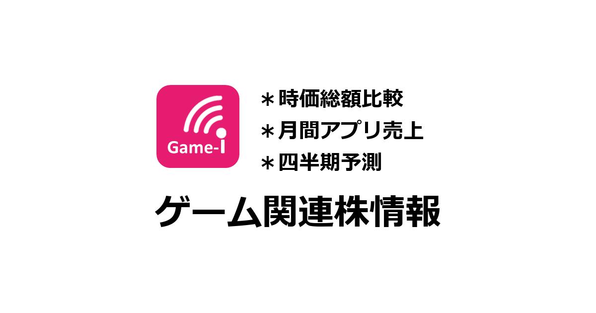 アプリ - #セルラン分析/ゲーム株『Game-i』